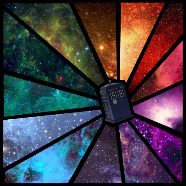 """Anywhere in Time and Space"" by daughter-of-the-doctor on Polyvore.  Can I just say...  FAVORITE TARDIS BACKGROUND.  EVER."