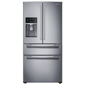Samsung 24.73-cu ft 4-Door French Door Refrigerator with Single Ice Maker (Stainless Steel) ENERGY STAR