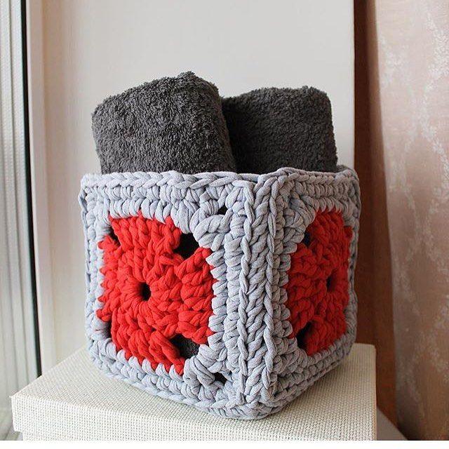 "358 Likes, 4 Comments - @applewhitecrochet on Instagram: ""By @pikalapka #crochetbasket #crocheteando #crochetlife #creativecrochet#crochetinspiration…"""