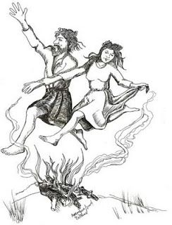 Leaping through or between bonfires on Beltane eve purified and aided fertility....Tracey-anne: April 25, 2010