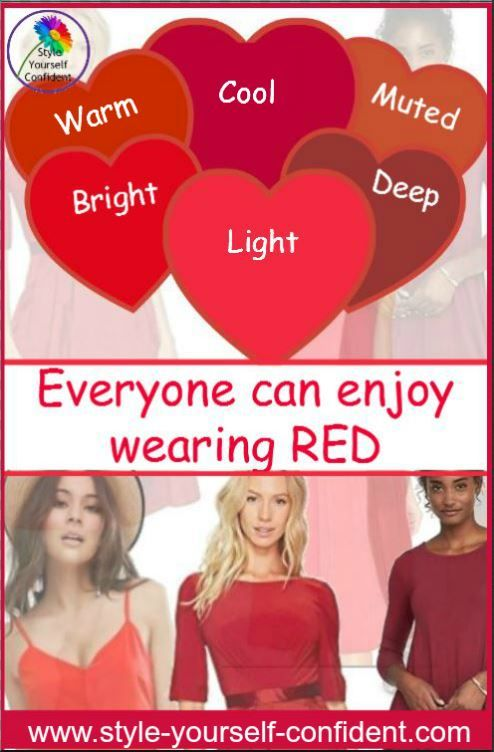 Everyone can wear RED whatever your coloring. It also influences your choice #wear red  http://www.style-yourself-confident.com/you-can-wear-red.html