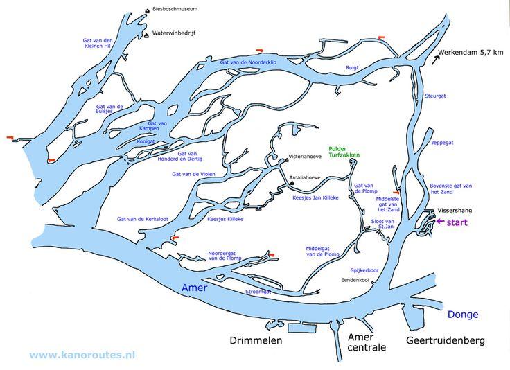 waterkaart biesbosch pdf - Google zoeken