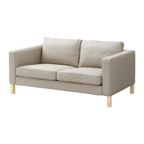 KARLSTAD Two-seat sofa - Tenö light grey - IKEA