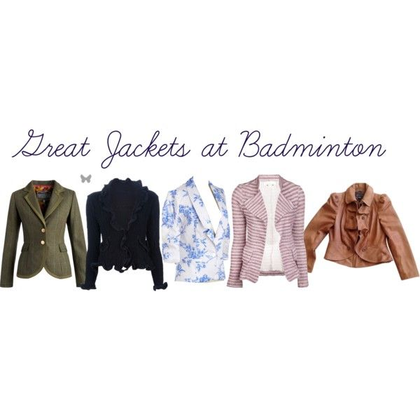 Great Jackets at Badminton by equestrianista on Polyvore featuring 19 4t, INC International Concepts, Joules, ISSEY MIYAKE CAULIFLOWER, women's clothing, women's fashion, women, female, woman and misses