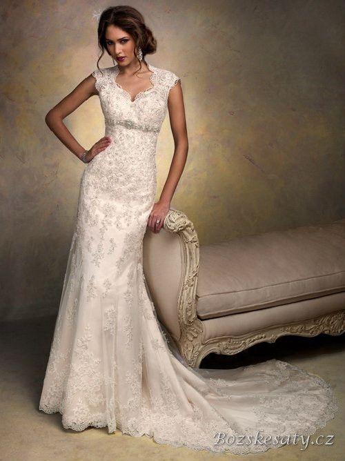 Krajkové svatební šaty BS_SS_0082