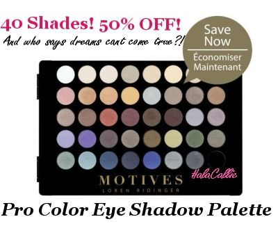 Pinch me, am I dreaming?! 40 Shades for 50% OFF!!! This is LITERALLY a Makeup Artists Dream! Cruelty Free & Hypoallergenic Makeup that is as true as it's pigment. <3