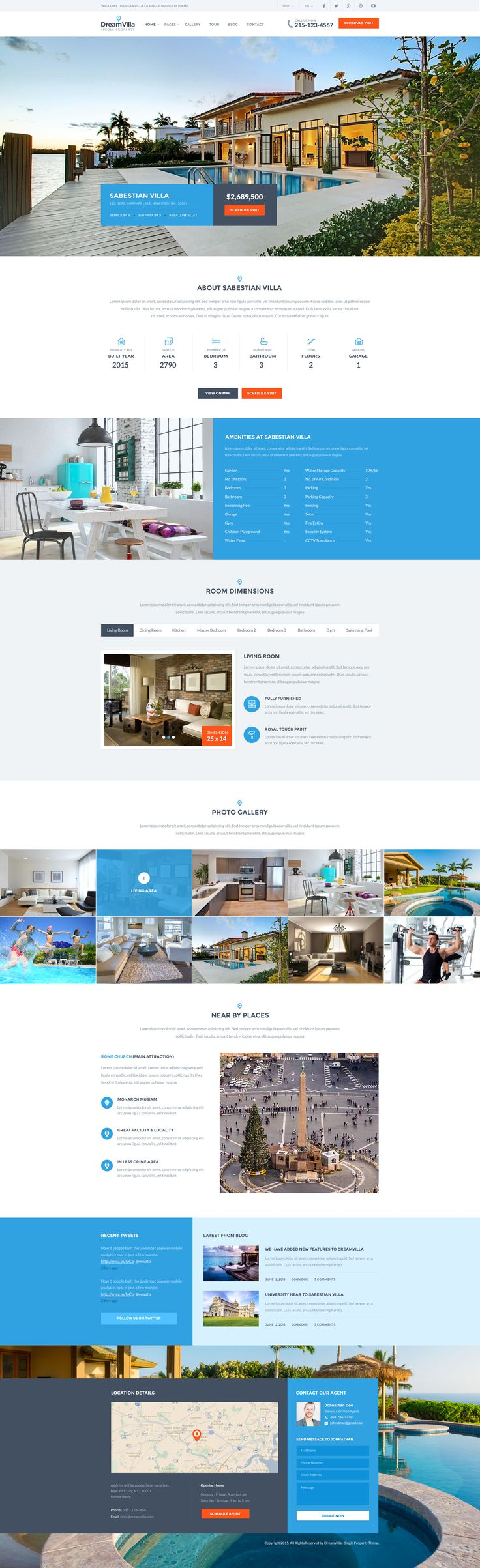 DreamVilla - Single Property HTML Template - Site Templates | ThemeForest
