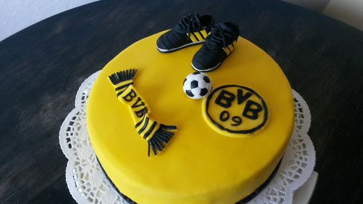 BVB 09 Torte Dortmund Fußball Schuhe Fanschal