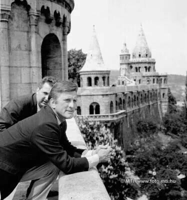 Kirk Duglas at Fisherman's Bastion- Budapest, Hungary 1963
