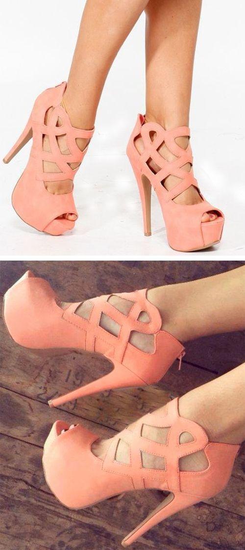 Coral heels //