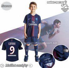 Promo:Flocage Cavani 9 Maillot Foot PSG Bleu Marine Enfant 2016-2017 Domicile | Maillots-Sport