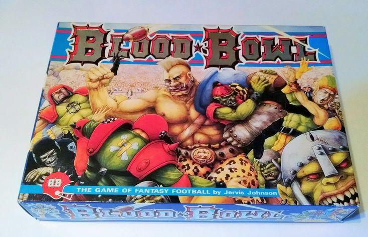 Blood Bowl Board Game Vintage 1988 Fantasy Football Games Workshop Orcs Monsters #GamesWorkshop