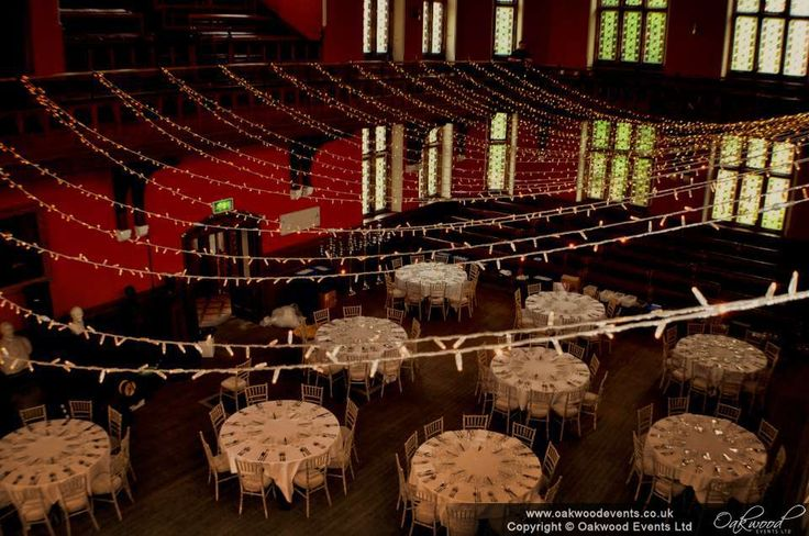 Fairy light canopy in the Debating Chamber, view from above