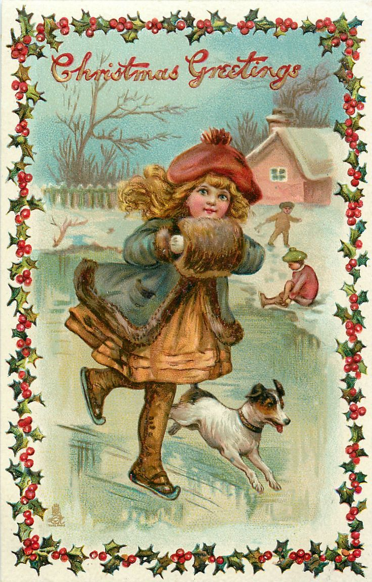 Открытки винтажные с новым годом и рождеством