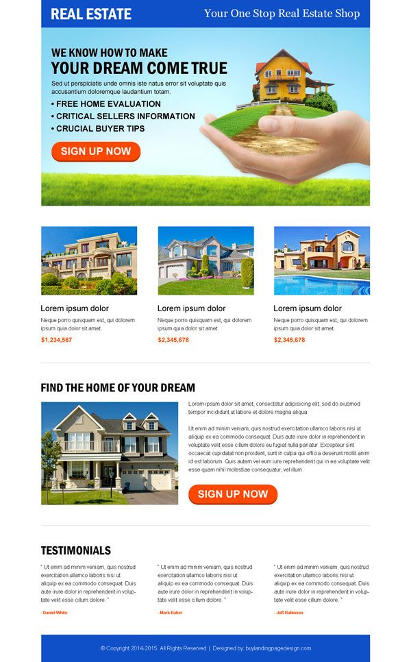 6 best converting real estate landing pages for agents & broker | Responsive web design and landing page design service to convert your business with sales and leads
