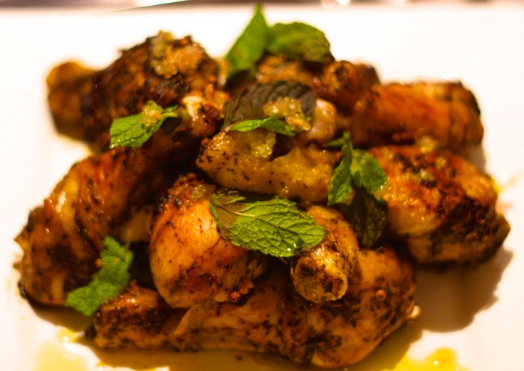 Herbed chicken drumsticks.  Recipe on Facebook.