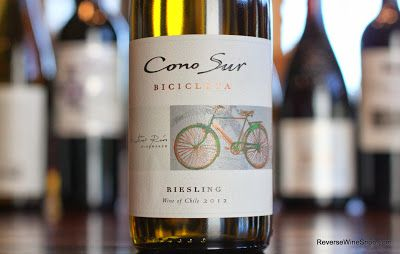 The Reverse Wine Snob: Cono Sur Bicicleta Riesling 2012 - Easy Rider. Another nice find from Chile. $6! http://www.reversewinesnob.com/2013/10/cono-sur-bicicleta-riesling.html