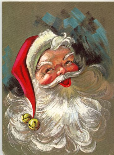 When I painted I made many sleds with this Santa on them.