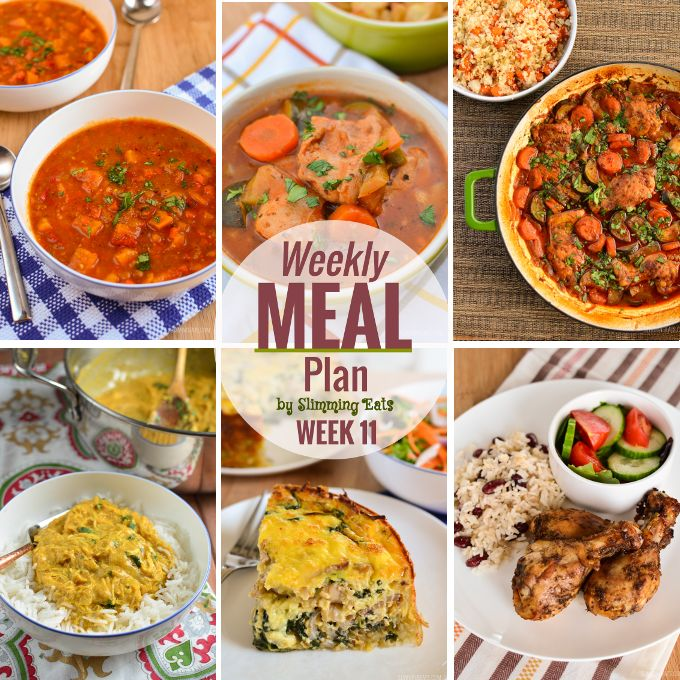 Slimming Eats Weekly Meal Plan – Week 11