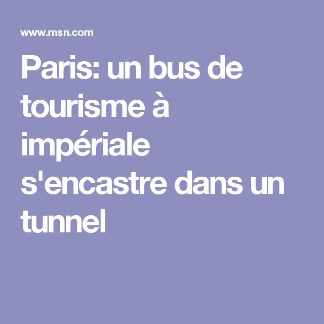 Paris: un bus de tourisme à impériale s'encastre dans un tunnel