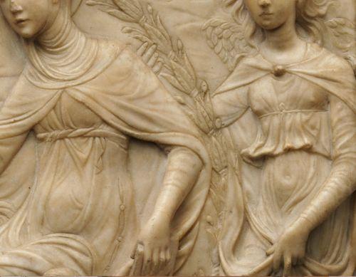 Agostino di Duccio c. 1459-1450  Saint Bridget of Sweden Receiving the Rule of Her Order (detail)