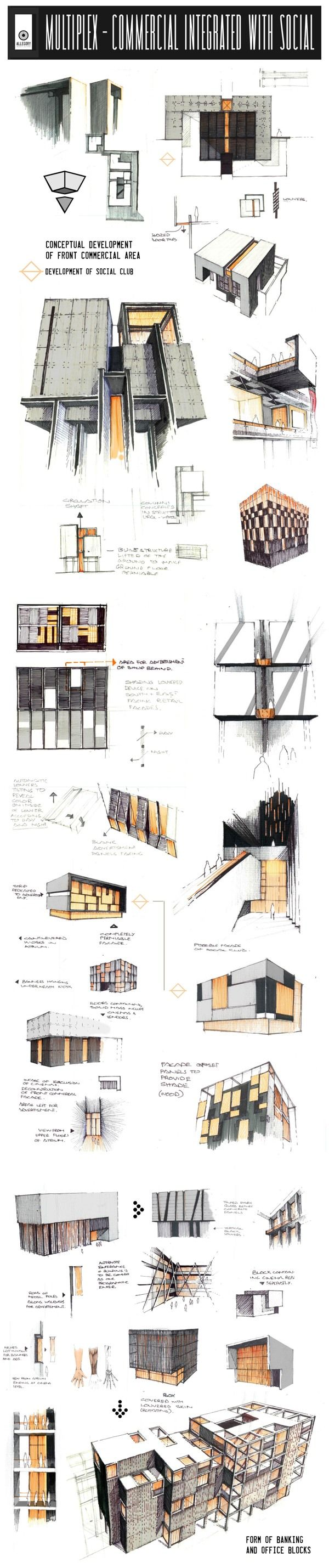 Professional Design Proposals - Under-Development by Anique Azhar, via Behance Lamina de detalles y vistas.
