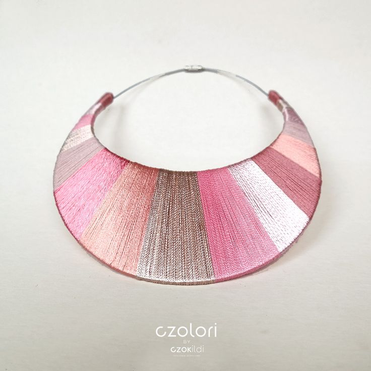 Pink Stripes Necklace