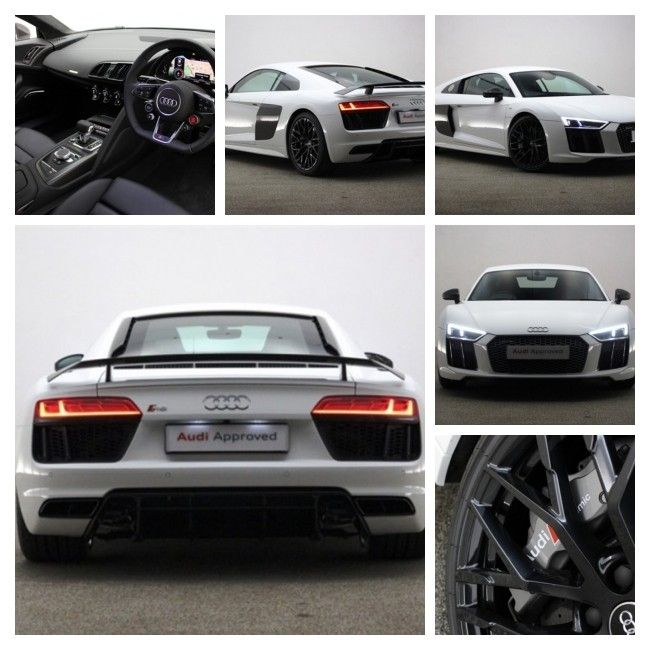 #mondaymotivation White 2017 Audi R8 V10, 10 miles, £130,000 https://v5cars.co.uk/buy-used-car/126246/audi/r8 #audi #r8 #forsale #reading #supercars