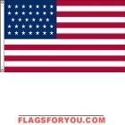 High Wind, US Made US Civil War (34 Star) Flag 4x6