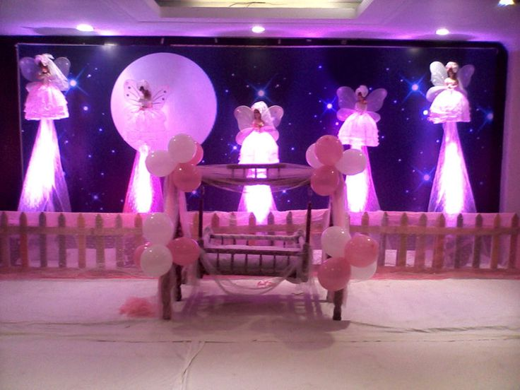17 best images about cradle ceremony balloon decorations for Baby name decoration