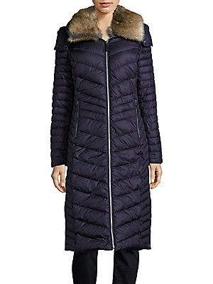 MARC NEW YORK by ANDREW MARC Quilted Faux Fur Collar Coat -