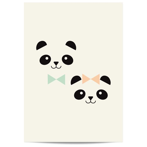 Poster Mr & Miss Panda by Zü http://www.zu-boutique.com/