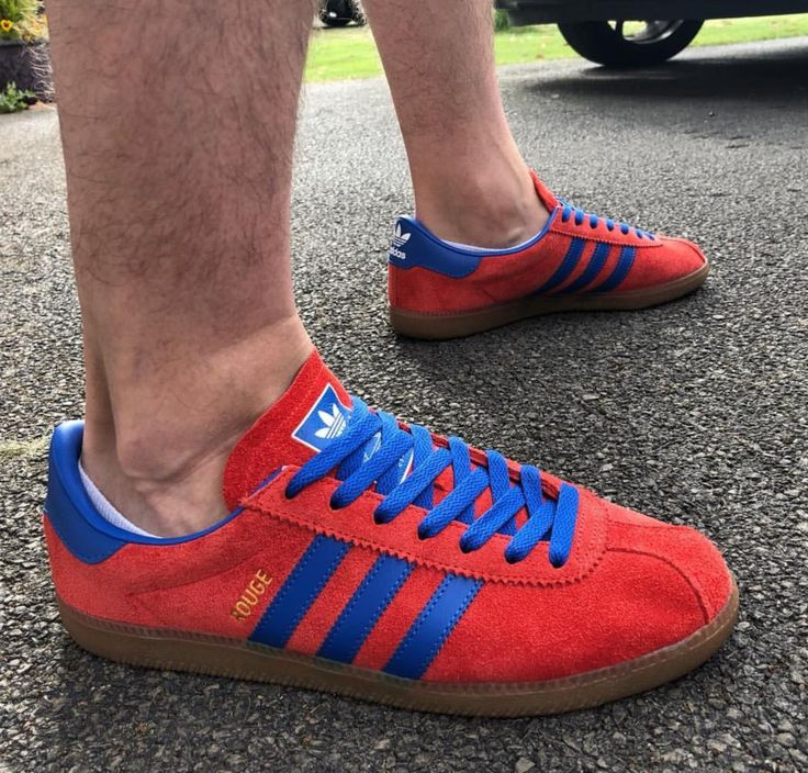 Gorgeous Adidas Rouge on feet on the street   Classic sneakers ...