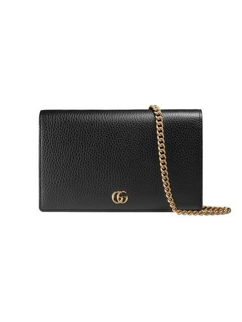 f4b480bd76bf1c Gucci GG Marmont Leather Mini Chain Bag in 2019 | 2018 Christmakah ...