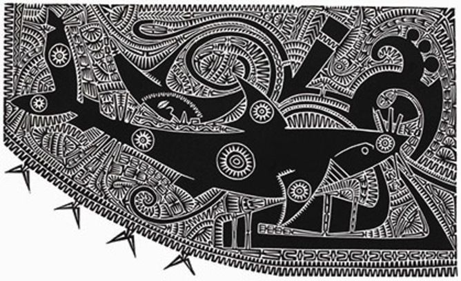 Torres Strait Islanders use constellations, such as the shark 'Baidam' pictured here, for practical purposes. Brian Robinson
