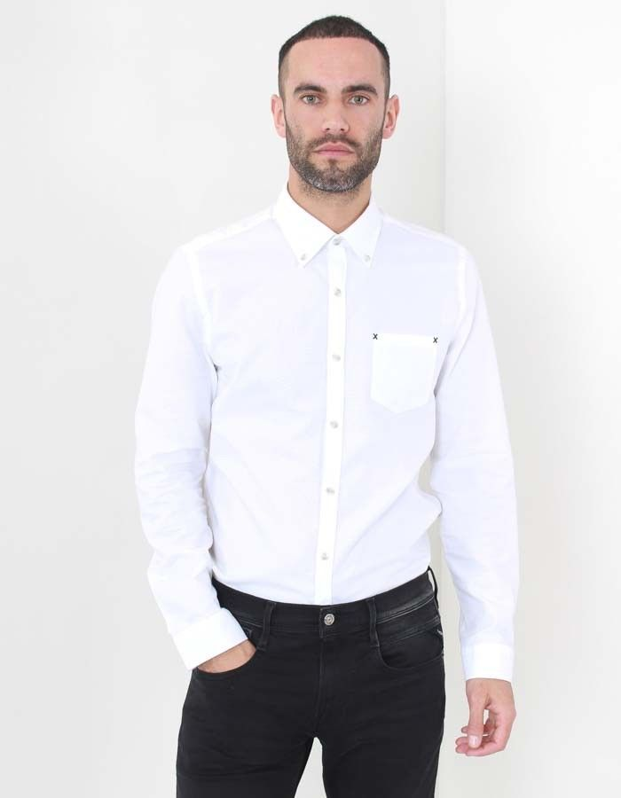 Gibson Oxford Shirt White | Accent Clothing