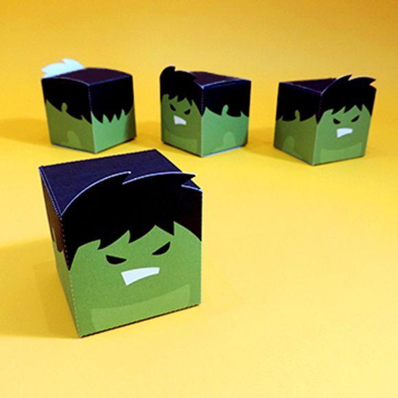 Caixa Cubo Hulk