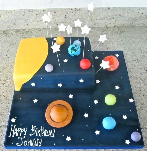60 best images about space party on pinterest space for Cake decorations outer space