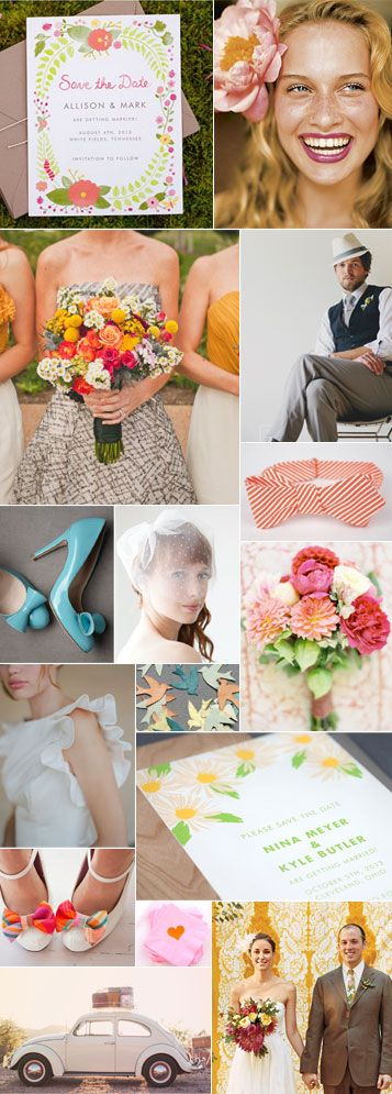 Love this mood board! Especially  the colors and the pop of that red+white striped bowtie ;): Invite, P S Wedding, Happy Weddings, Spring Wedding, Mood Board, Wedding Colors, Romantic Weddings, Light