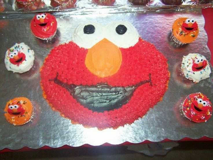 Elmo Cake & Cupcakes Cake Decorating Talents of Mine ...