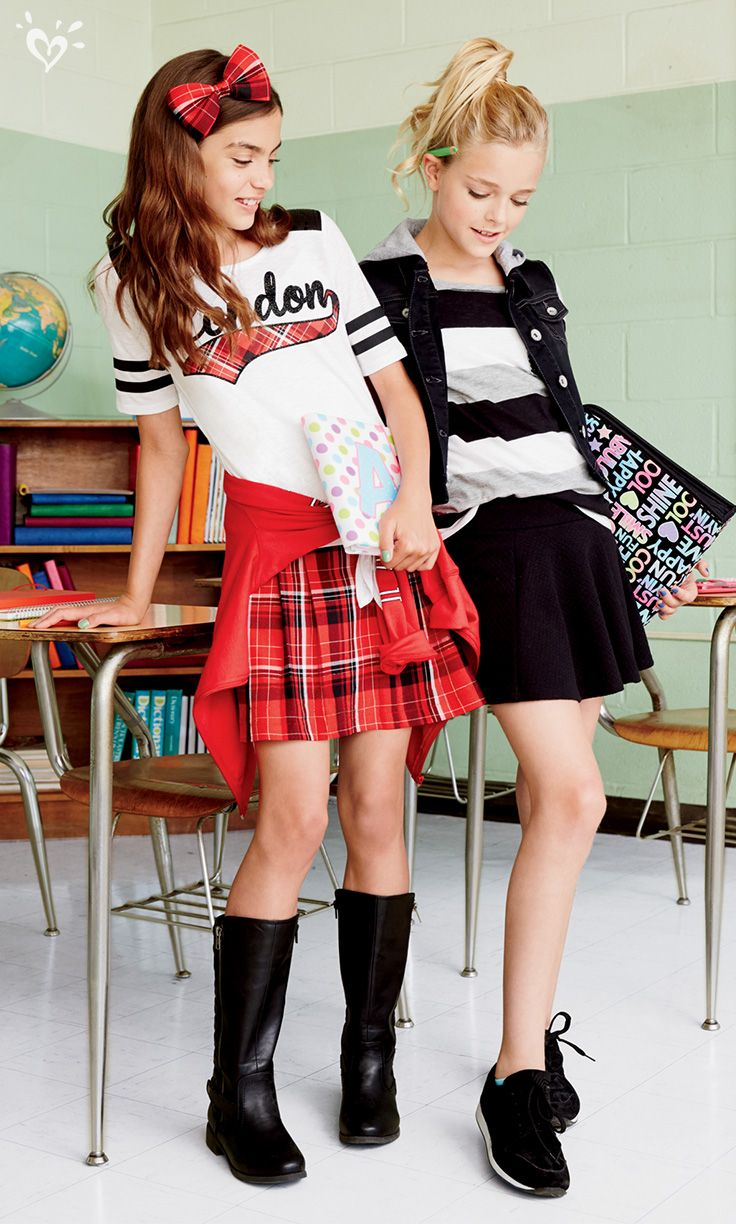 A must-have on your back-to-school shopping list: pleated skirts with built-in shorts!