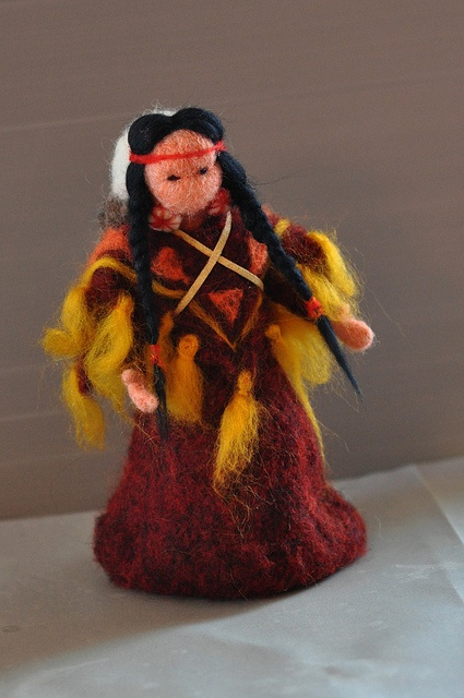 needle felted native american doll by daria.lvovsky, via Flickr