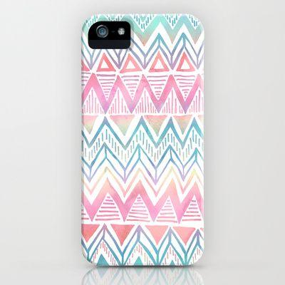Lido Chevron iPhone & iPod Case by SchatziBrown #pastel #tribal #chevron