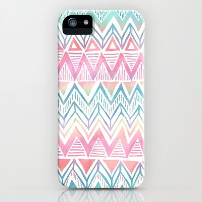 Lido Chevron iPhone & iPod Case by SchatziBrown #pastel #tribal #chevron