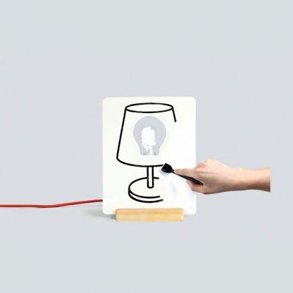 Lampe Personnalisable en Céramique Drawlamp, cadeau Luminaires sur cadeaux et anniversaire.com