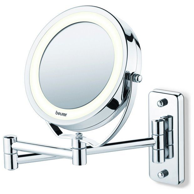 Buy Beurer Bs59 Illuminated Wall Cosmetic Mirror Makeup Mirrors Argos Shaving Mirror Illuminate Cosmetics Mirror