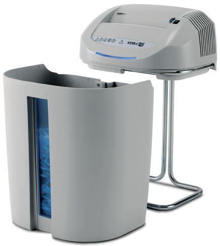 DK01SS6 Destructeur de papier coupe droite niveau de sécurité 2, idéalement destiné à une utilisation individuelle, cet appareil trouve sa place à chaque poste de travail.