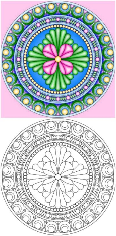 237 Best Images About Mandalas To Color On Pinterest border=