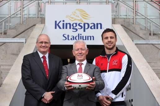 Ulster Rugby's Ravenhill is to be renamed Kingspan. Pictured are Shane Logan ... - http://rugbycollege.co.uk/rugby-news/ulster-rugbys-ravenhill-is-to-be-renamed-kingspan-pictured-are-shane-logan/