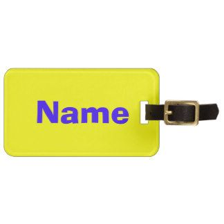 Blue on Yellow Tags For Bags